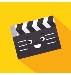 Cartoon clapper movie film design vector