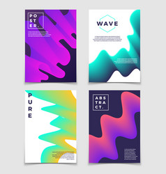 colorful twisted shapes minimal modern vector image vector image