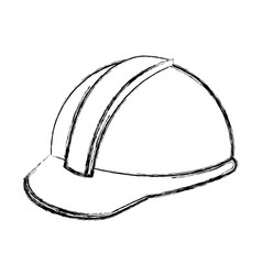 construction helmet element safety in construction vector image
