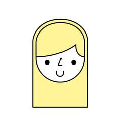 cute woman avatar character vector image vector image