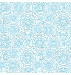 Doodle circle water texture seamless pattern vector image vector image