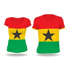 Flag shirt design of Ghana vector image vector image