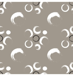 Grunge circles on a white coffee background vector image vector image