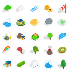 Horticulture icons set isometric style vector