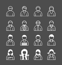 Human icons set vector