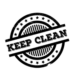 Keep clean rubber stamp vector