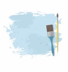 Paint brush and blue stain vector