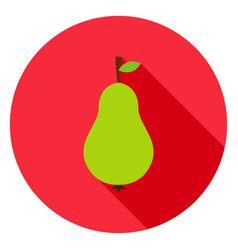 pear circle icon vector image