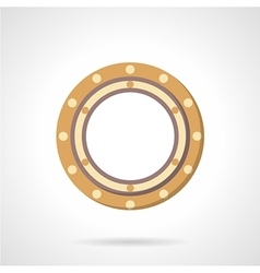 Roller bearing icon flat style vector