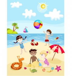 Summer card vector