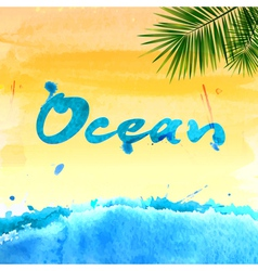 Summer watercolor background vector image vector image
