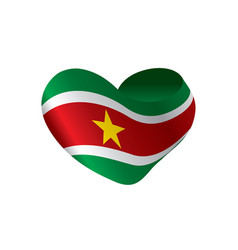 Suriname flag vector