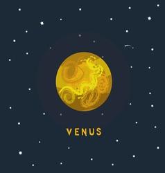 VENUS space view vector image