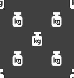 Weight sign Seamless pattern on a gray background vector image vector image