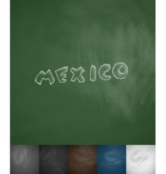 Mexico icon hand drawn vector