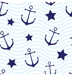 Nautical seamless vector