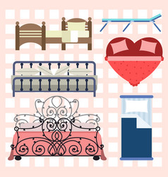 Exclusive sleeping furniture design bedroom with vector