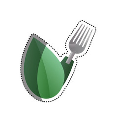 Healthy food restaurant vector