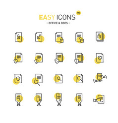 easy icons 17d docs vector image