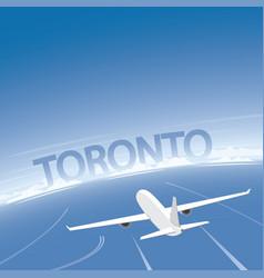 toronto skyline flight destination vector image
