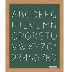 Chalk alphabet vector