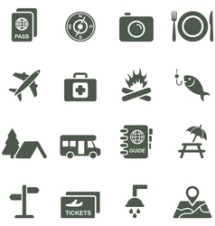 Icons for travel and tourism vector