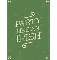 Hand drawn st patricks day greeting card design vector