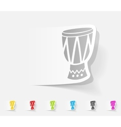 Realistic design element drum vector