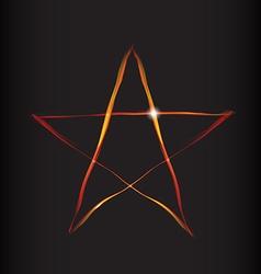 Fire Magic Star vector image