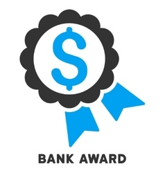Bank award icon with caption vector
