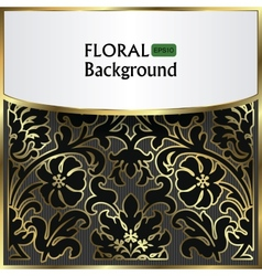background with a gold flower pattern vector image