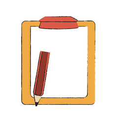 checklist with pen vector image