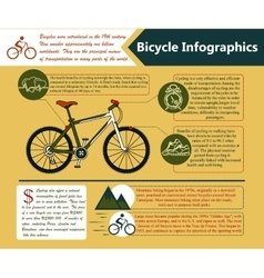 Cycling lifestyle info vector