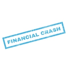 Financial crash rubber stamp vector
