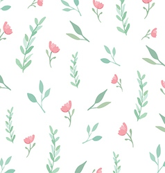 Flowers and leaves pattern vector image