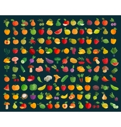 fruit and vegetables logo design template vector image vector image