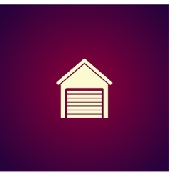 Garage icon modern design flat style icon vector