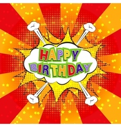 Happy Birthday comics vector image