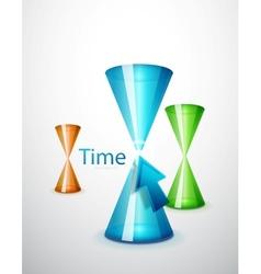 Hi-tech hourglass concept vector