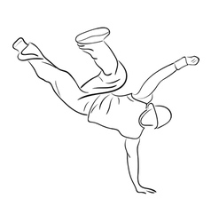 Hip-hop man dancer vector image vector image