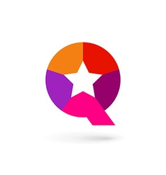 Letter q star logo icon design template elements vector