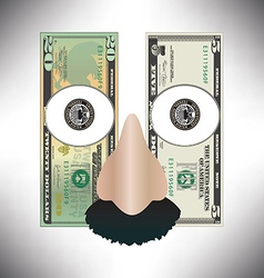 Money face funny face vector image vector image