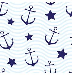 Nautical seamless vector image vector image