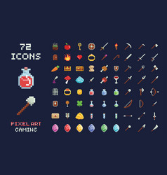 pixel art game design icon video game vector image vector image