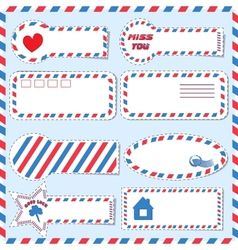 Postal stickers vector