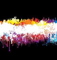 rainbow and crowd vector image