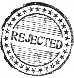 rejected stamp vector image vector image