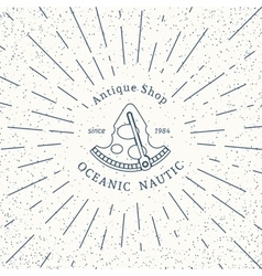 retro nautical logo template vector image