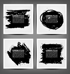 Set painted charcoal banners vector
