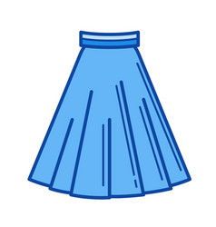 skirt line icon vector image vector image